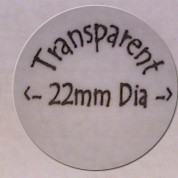 Transparent Circle 22mm